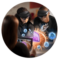Microsoft HoloLens 2 education in use