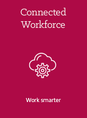 Connected workforce - work smarter logo icon